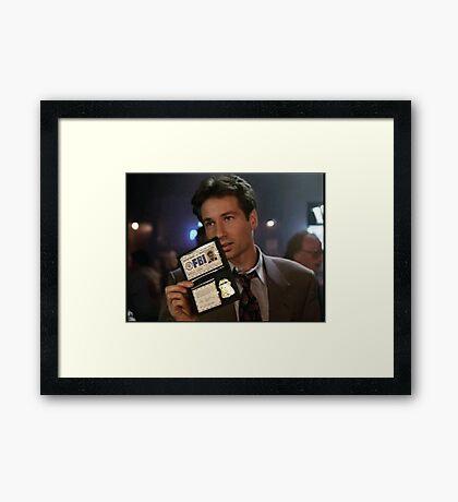 Mulder, Fox Mulder Framed Print