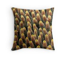 Coral Towers Throw Pillow