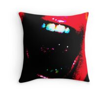 Mouth Off Throw Pillow