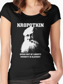 Kropotkin - Poverty is Slavery Women's Fitted Scoop T-Shirt