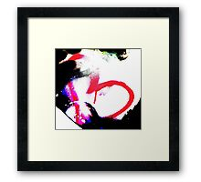 Abstract heart in pink Framed Print