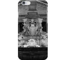 the Pantheon and the fountain della Rotonda in Rome iPhone Case/Skin