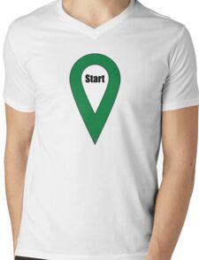 Start Here Couple or Kids Exploring Mens V-Neck T-Shirt