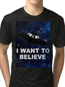 I Want to Believe 2014 V1 ( Clothing & Stickers ) Tri-blend T-Shirt