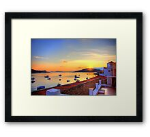 Halki Sunrise Framed Print