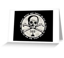 Skull and Bones Greeting Card