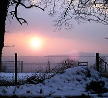 Winter Sunset Scene by Nx75