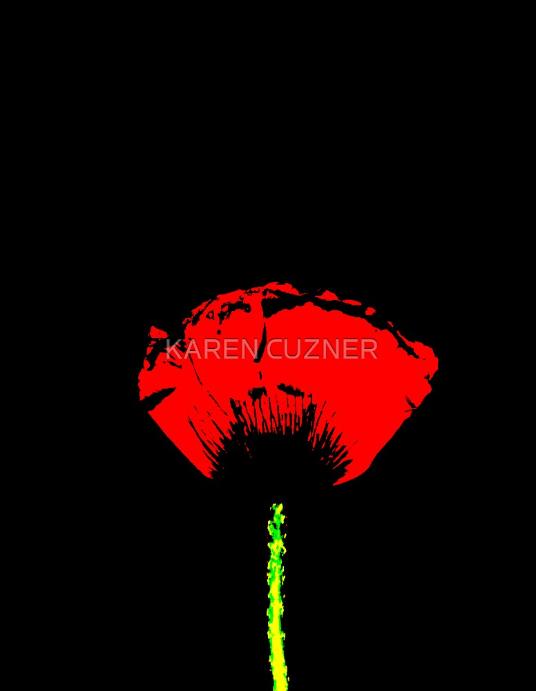 poppy art by KAREN CUZNER