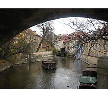 canal - prague Photographic Print