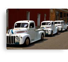 White Trucks Canvas Print