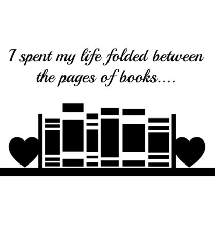 Folded Between the Pages of Books Sticker