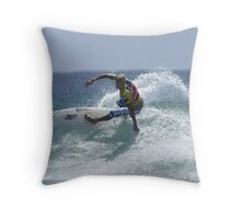 Mick Fanning at Snapper Rocks Throw Pillow