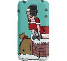 Sexy Santa Claus falling from chimney Samsung Galaxy Case/Skin