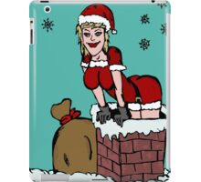 Sexy Santa Claus falling from chimney iPad Case/Skin