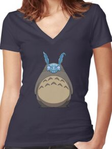 Donnie Darko Totoro Women's Fitted V-Neck T-Shirt