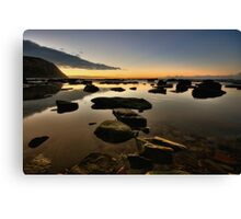 Bar Beach Rock Platform 3 Canvas Print