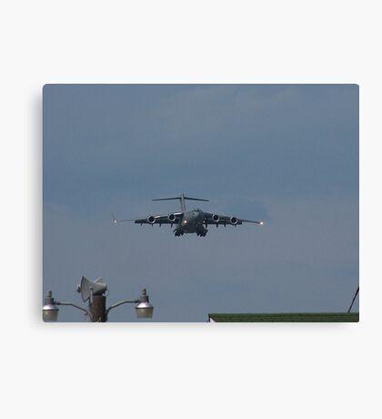 Air Force Plane Landing Canvas Print