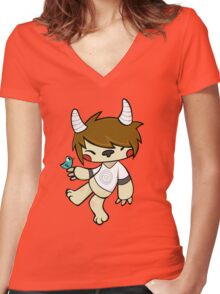 Birdoo Women's Fitted V-Neck T-Shirt