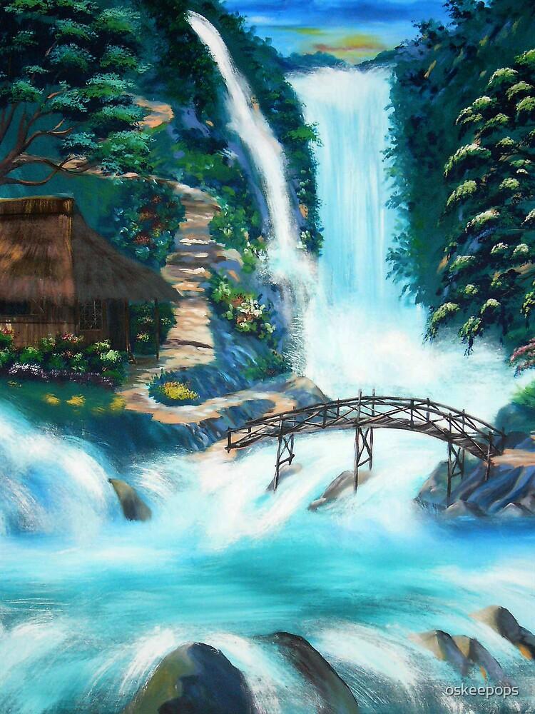 water falls by oskeepops