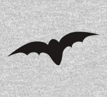 Simple black bat One Piece - Long Sleeve