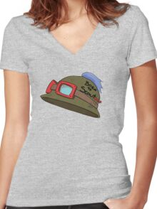 Born To Teemo Women's Fitted V-Neck T-Shirt