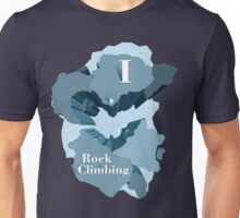 I Heart Rock Climbing Graphic Tee in Blue Unisex T-Shirt