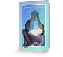 Merry Christmas Virgin Mary And Child  Greeting Card