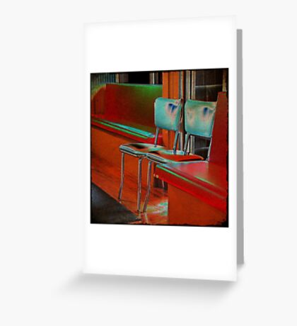 bubba's chairs Greeting Card