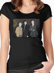 Sherlock Office party Women's Fitted Scoop T-Shirt