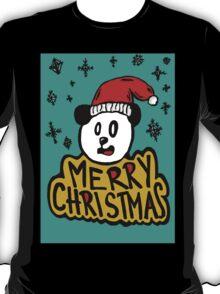 Snowing Christmas with panda T-Shirt
