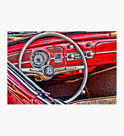 red vw love Photographic Print