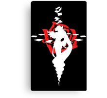 Twisted Fate Rose Black Canvas Print
