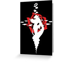 Twisted Fate Rose Black Greeting Card