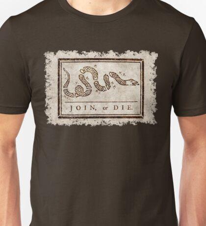Join or die, Benjamin Franklin's historical warning Unisex T-Shirt