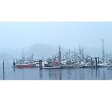 Boats In Winter 1 Photographic Print