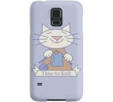 Time to Knit Cat Samsung Galaxy Case/Skin