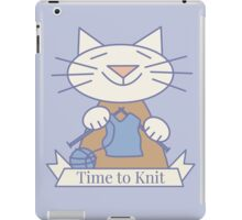 Time to Knit Cat iPad Case/Skin