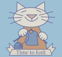 Time to Knit Cat Kids Tee