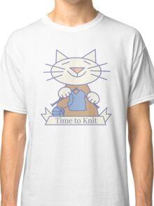 Time to Knit Cat Classic T-Shirt