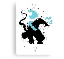 Udyr Black Ink Canvas Print