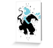 Udyr Black Ink Greeting Card