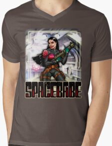 Spacebabe - Heroine of the cosmos! Mens V-Neck T-Shirt