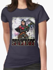 Spacebabe - Heroine of the cosmos! Womens Fitted T-Shirt