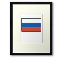 Russian National Flag, USSR, Russia, Pure & Simple Framed Print