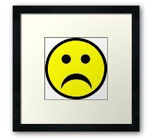 Sad Smiley Face Framed Print
