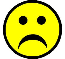 Sad Smiley Face Photographic Print