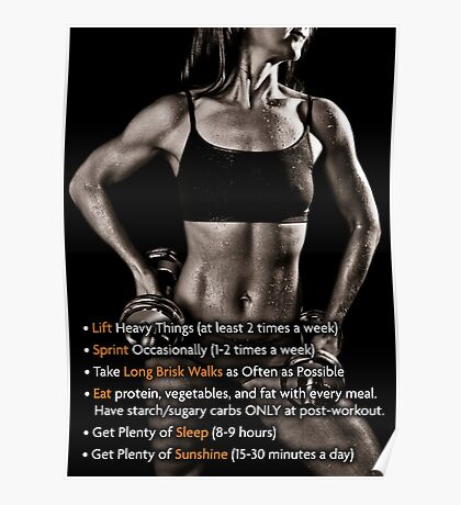 How To Get Fit - Women's Fitness Infographic Poster