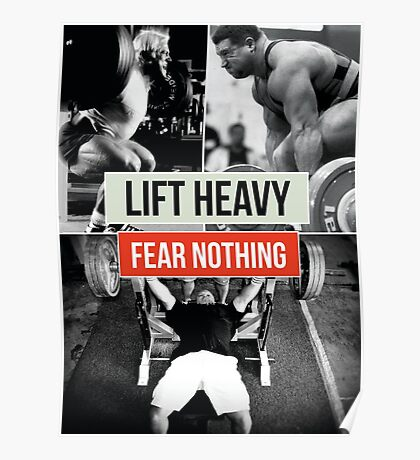Lift Heavy, Fear Nothing Poster