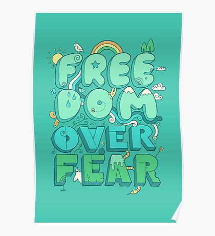 Freedom Over Fear Poster