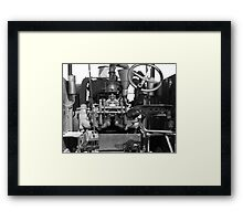 Tractor in Black & White Framed Print